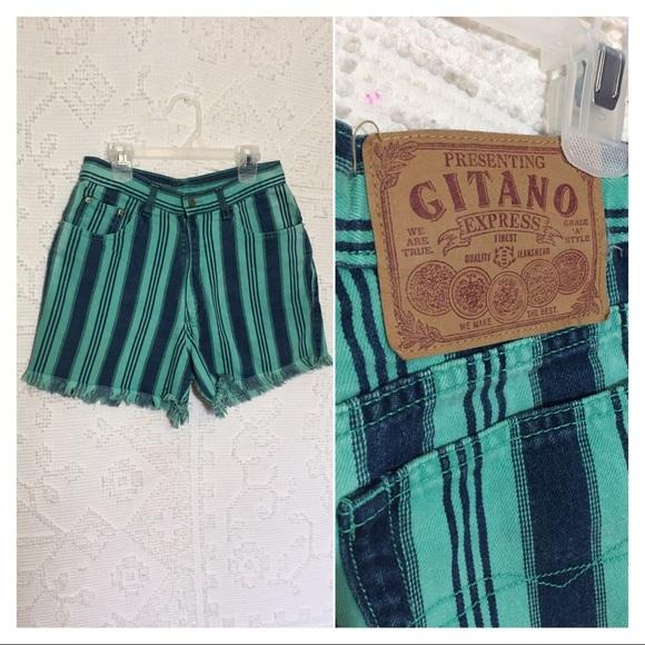 Gitano Pants - Vintage 90's Gitano Cut Off High Waist Shorts